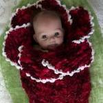 Original design new style newborn baby bell flower cocoon white hot pink photography props handmade in Canada Available for twins