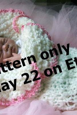 FLOWER Cocoon PDF KNITTING PATTERN Original Design Lily Amaryllis Bell Baby Permission To Sell Finished Product